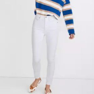 """Madewell 10"""" High-Rise Skinny in pure white jeans…"""